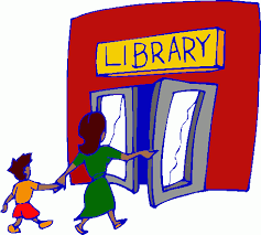 cartoon of library